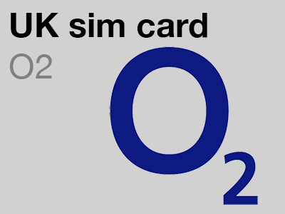 O2 UK sim card