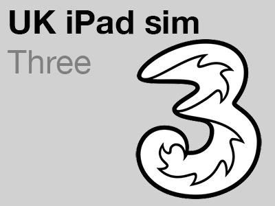3 UK data-only micro SIM for Apple iPad