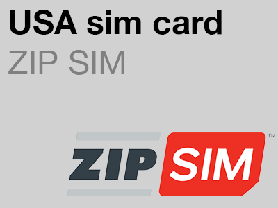 ZIP SIM USA sim card