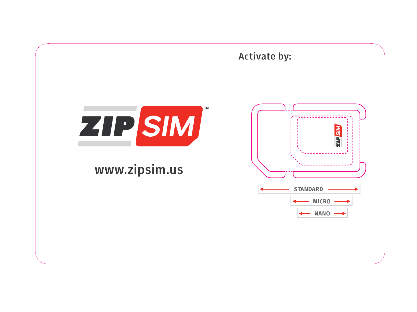 ZIP SIM sim card sizes